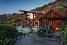 Cliffside home with ocean views in Big Sur Redwood Forest, Small Places, Big Houses, Big Sur, House Front, Outdoor Rooms, Modern Rustic, The Neighbourhood, Home And Family