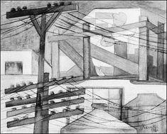 Revueltas Fermin 1923 Andamios exteriores - Art/Styles and movements - Monoskop Gerardo Murillo, Jose Maria Velasco, Mexican Art, Fashion Art, Stairs, Exterior, History, Drawings, Prints