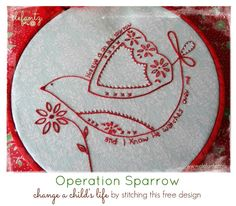 (10) Name: 'Embroidery : Operation SPARROW - 2 sizes