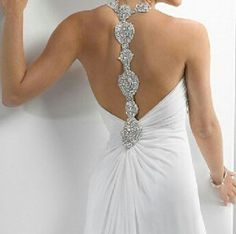 Backless design with class and a bit of bling!