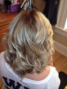 Bleach blonde color correction ombre