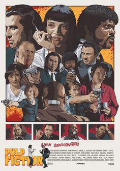 Quentin Tarantino's Pulp Fiction Art Print by Monkeyard | Society6