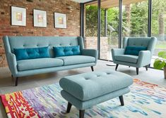 Retro-style Stockholm sofa and armchair range at Sofology