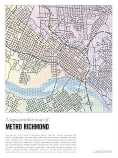 Richmond type map | Shop RVANews I need one.