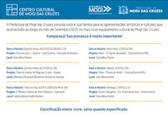 Agenda Cultural do ALTO TIETÊ: Atrações do Centro Cultural de Mogi das Cruzes