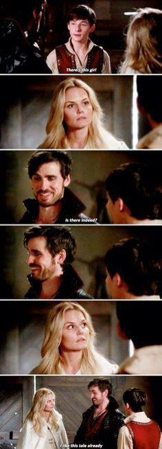 Emma is like girl what the-killian your not helping and Killian is like girl!? Oh this is going to be funny!