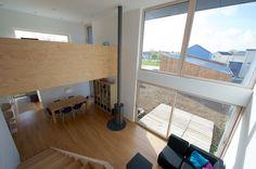M12D - maison ossature bois basse-consommation à Treillières, à 10 km de Nantes - VMC double flux - poêle à bois - ouate de cellulose - murs perspirants - fibre de bois - bardage Douglas - Tektolab
