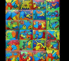 Workshop:levende fantasie gemaakt door kinderen van groep 3 en 4