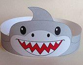 Shark Paper Crown - Printable