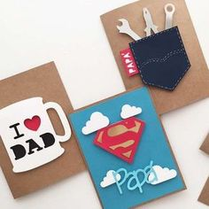 Fathers day cards, diy for fathers day, mothers day cards, diy cards for da Happy Fathers Day Cards, Fathers Day Crafts, Mothers Day Cards, Fathers Day Ideas, Fathers Day Cards Handmade, Fathers Day Presents, Father Birthday, Birthday Diy, Birthday Wishes