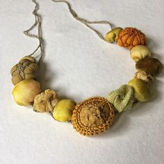 Instagram Crochet Necklace, Beaded Necklace, Fabric Scraps, Scrap Fabric, Give It To Me, Let It Be, Textile Jewelry, New Perspective, Open Up