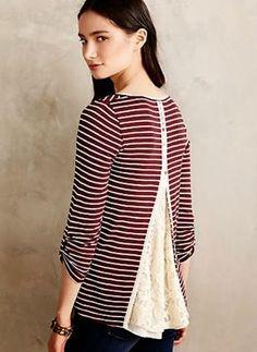 yo elijo coser: DIY: copiar una blusa de Anthropologie y conseguir unos centímetros extra de anchura