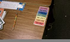 A mini behavior chart on student's desks who need extra support or more immediate reminders...they use a large paper clip to slide up and down..    This could be done with a behavioral rubric to help students chart their behavior through the day.