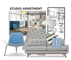 """Studio apartment inspiration..."" by gloriettequartet ❤ liked on Polyvore"