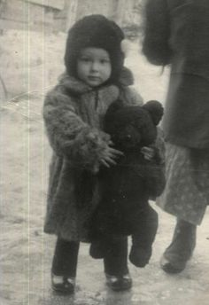 with a teddy bear. Russia