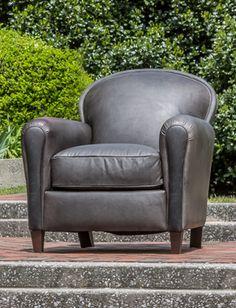 Stsh Home | Saratoga Fog Leather Chair