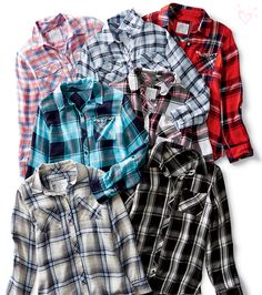 Best-Ever Plaid Button-Ups: Coolest-ever color combos, feel-it-to-believe-it softness and the-definition-of-comfy fits!
