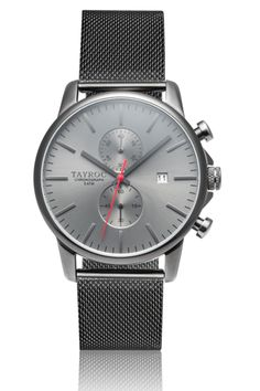 High Quality Silver Meshband Watch For Men By Tayroc