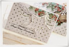 scrappassion: Boże Narodzenie Christmas Flowers, Advent Calendar, Christmas Cards, Decorative Boxes, Tags, Holiday Decor, Pretty, Scrapbooking, Wedding