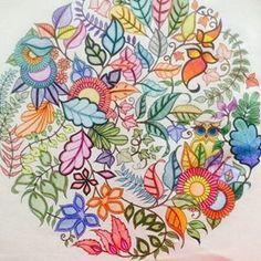 #jardimsecreto Instagram tagged photos - Pikore Joanna Basford, Tag Photo, Make Your Mark, Color Inspiration, Enchanted, Coloring Pages, Mandala, Tags, Garden