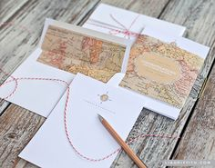 Vintage Map Stationery Kit. So pretty! Lia Griffith always has wonderful downloads!