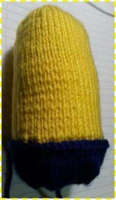 Knitted Minion   Knitting   Basic Knitted Fabrics   Free 30-day Trial   Scribd Basic Knitted Fabrics, Knitted Doll Patterns, Knitted Dolls, Knitting Patterns, Minion Toy, Minions, Knitted Flowers Free, Art Decor, Free Pattern