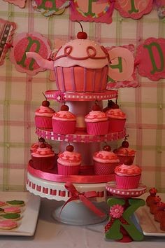 Pinkalicious Tea Party!  In blue for boy or green for tropical themes party
