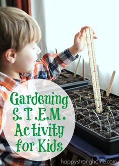 The kids had so much fun with this 10-day (more or less!) Gardening STEM Activity - learn math and plant an organic garden at the same time with @PowerfulPlants (client)