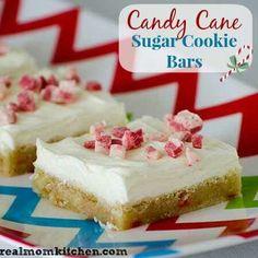 Candy cane sugar bar cookies