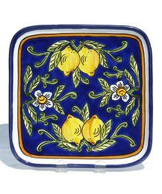 Look at this #zulilyfind! Citronique Square Platter by Le Souk Ceramique #zulilyfinds
