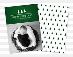 Christmas Card Merry Christmas Photo Holiday by paperheartprints #christmas #christmascard #christmasphotocard #holiday #holidaycard #merrychristmas #photo #graphicdesign #trees #green #etsy #etsylove