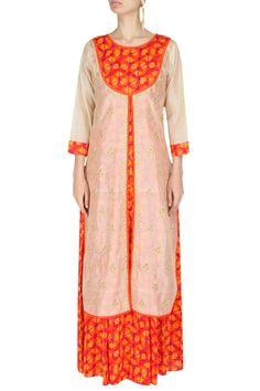 #printedpassion #beige #fulltunic #classic #styleit #labelsurabhiarya #shopingurgaon