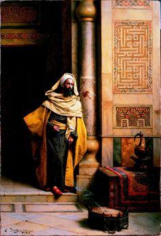 The Philosopher (1905) by Ludwig Deutsch (Vienna, 1855 - Paris, 1935) Austrian born Orientalist painter who settled in Paris.