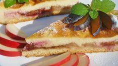 Krupicový švestkovo - jablečný koláč Tiramisu, Waffles, French Toast, Cheesecake, Breakfast, Ethnic Recipes, Food, Clever, Cakes