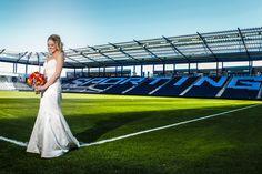 Unique Soccer Stadium Wedding   on Borrowed & Blue.  Photo Credit: Rivas Photography