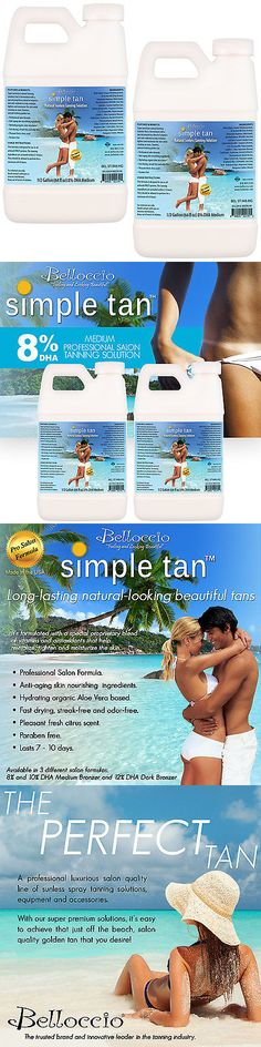 Other Sun Protection and Tanning: Gallon Belloccio Simple Tan 8% Dha Med. Sunless Airbrush Spray Solution Tanning -> BUY IT NOW ONLY: $89.96 on eBay!