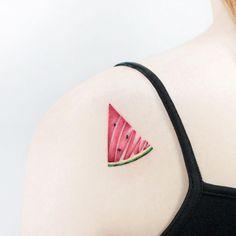 Watermelon Tattoo by tattooist_ida