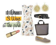 Fair Fashion Inspiration 1 Dress 3 Ways at the park // Nachhaltige Mode Inspiration 1 Kleid 3 Outfit im Park