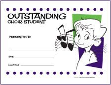 elementary performance ensemble award certificates http