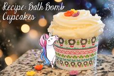 My Recipe for Bath Bomb Cupcakes with a perfect Bubble Frosting!