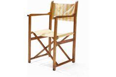 Hannes Meyer, Two Folding Chairs 'co-op interieur', 1925/26Beech, cotton, metalGermany, 1925/26Ha