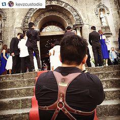 Luxury double leather #camerastrap for #weddingphotographers - KAWA Pro Duo