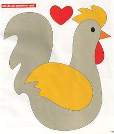 chicken - make 2 hearts upside down for feet