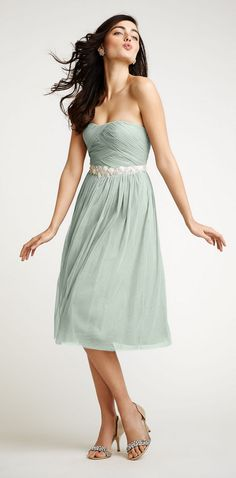 Grayed Jade bridesmaid dress by BHLDN greyed jade wedding | dusty teal | www.endorajewellery.etsy.com
