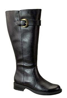 David Tate Women's Harper Extra/Super Wide Calf™  Boot (Black) - FINAL SALE