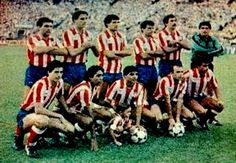 EQUIPOS DE FÚTBOL: ATLÉTICO DE MADRID 1985-86