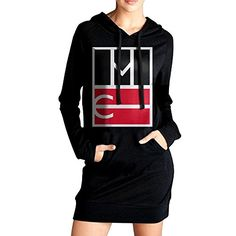 HHKU Womens Magcon Boy Logo Sweater Pockets Hoodie Dress Black Size M >>> Read more  at the image link. (This is an Amazon affiliate link)