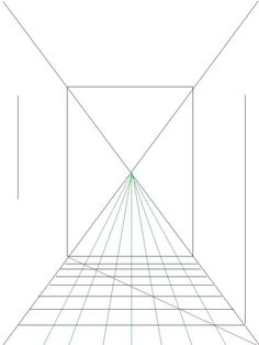 How to draw a room using 1 pt perspective