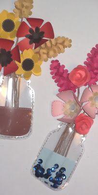 Fiori in vaso di vetro tag Tag, Paper