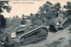 LA COURTINE - Tanks en manœuvre